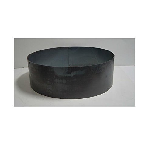 PD Metals Steel Campfire Fire Ring Solid Design - Unpainted - Large 48 d x 12 h Plus Free eGuide