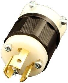 2P 3W LOCKING 15A LEVITON 4770-C LOCKING PLUG INDUSTRIAL NEMA L7-15 L7-15P