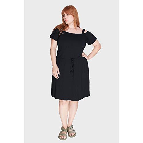 Vestido Blusê Ciganinha Plus Size Preto-48