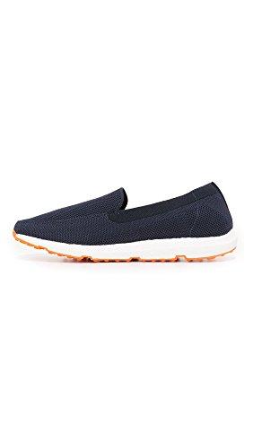 Svømmer Menns Bris Spranget Strikke Loafers, Navy / Orange, 7 D (m) Oss