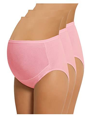 Womens Underwear Briefs Knickers - NBB Women's Adjustable Maternity Panties High Cut Cotton Over Bump Underwear Brief (X-Large, 3 Pack - Pink)
