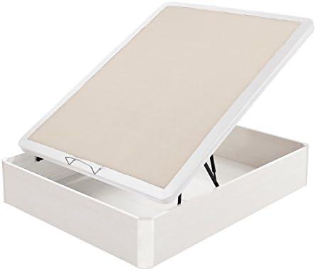 Flex - Canapé Abatible Madera 25 Tapa Polipiel - 180X190, Color Blanco