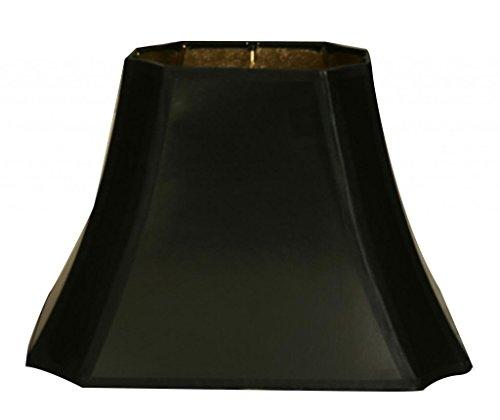 "Royal Designs 11"" Rectangle Cut Corner Hardback Lamp Shade, Gold Lining, (4 x 6) x (8 x 11) x 7.5 (DHB-710-11BLK) from Royal Designs, Inc"