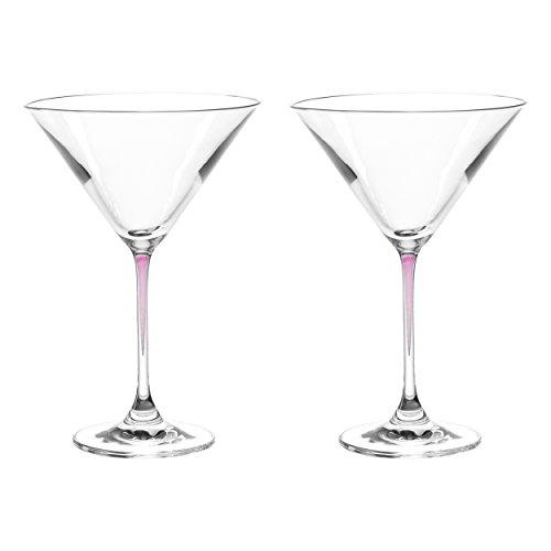 LEONARDO La Perla Martini Glass, Set of 2, Purple, 9 -
