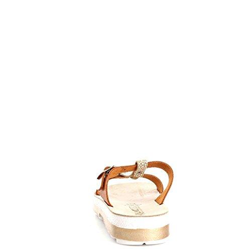 MELLUSO - Sandalias de vestir para mujer Cuoio/Oro