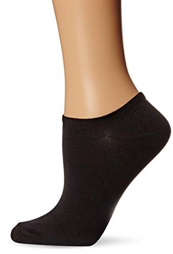 Hue Women's 6-Pack Microfiber Liner Socks,Black,One Size