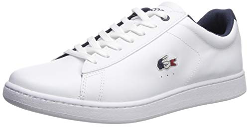 Lacoste Men's Carnaby EVO Sneaker, White/Navy/red, 12 Medium US ()