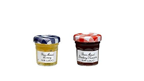 Honey Jar Wedding Favors (Bonne Maman Duo Mini Jars - 1 Oz X 30 Pcs (15 Strawberry, 15)