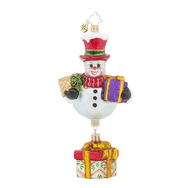 Christopher Radko Frosty Favorites Snowman Glass Christmas Ornament - 7