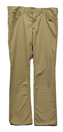 (Polo Ralph Lauren Prospect Straight-Fit Stretch Sateen Flat Front Pants Khaki 38X34)