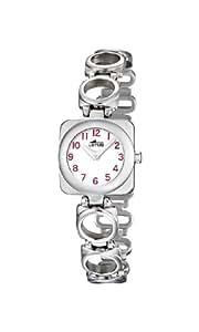 Lotus 15712/2 - Reloj analógico infantil de cuarzo con correa de piel rosa - sumergible a 50 metros