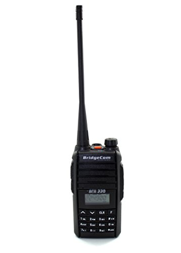BCH-220 Handheld HT Ham Portable FM Radio (220Mhz 1.25M Radio, Full 5W Radio on 220mhz) Amateur Radio with LCD Display, Long Range and Rechargeable Battery (up to 12 Hours) by BridgeCom Systems
