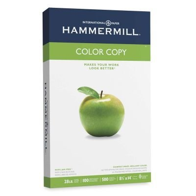 Hammermill - Color Copy Paper, 100 Brightness, 8-1/2 x 14, Photo White - 500/Ream by Hammermill