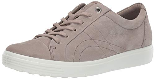 ECCO Women's Soft 7 Stitch Tie Sneaker, Warm Grey, 38 M EU (7-7.5 US)
