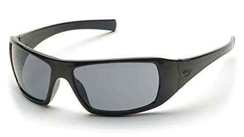 Pyramex Goliath Safety Eyewear, Black Frame, Gray Polarized Lens (Lens Frame Polarized Gray)
