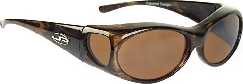 Fitovers Eyewear - Aurora - Brown Marble/polarized Amber - Oval - 133 X 39