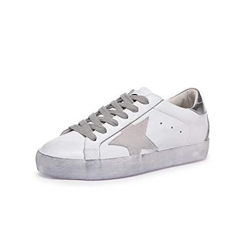 del Oro Heel ZHZNVX de Plata Primavera Flat Negro Comfort de de Zapatos Vaca Sneakers Dedo Cerrado Piel Verano Gold Mujer pie rxCwTZ7cqr