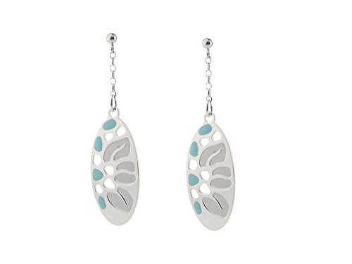 Fronay Co Etruscan Oval Turquoise Roots Earrings in Sterling -