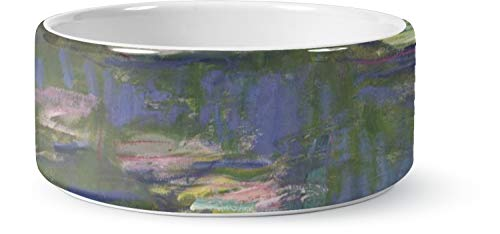 RNK Shops Water Lilies by Claude Monet Ceramic Pet Bowl - Large ()