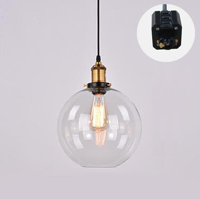 ANYE 3.2 Feet Cord 1-Light Track Pendant Light H-type 3 Wire Crystal ...