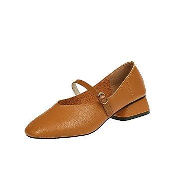 Pisos De Mujeres Zapatos Formales Comodidad Pu Caída Casual Office &Amp; Carrera Caminar Zapatos Formales Comodidad Talón Plano Negro Beige Marrón Bajo 1En US7.5 / EU38 / UK5.5 / CN38