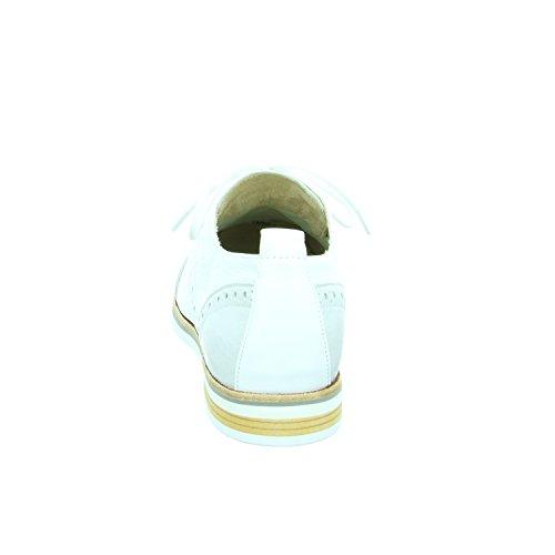 Caprice 2320128942 - Zapatos de cordones de Piel Lisa para mujer Weiß