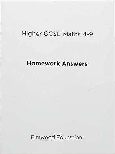 Higher GCSE Maths 4-9 Homework Answers (Essential Maths): Amazon co