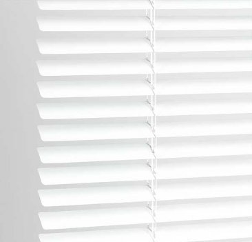 High Quality Classic Easy Fit 25mm PVC Venetian Blind, 105cm x 152cm- White, 10 Sizes Available Home In Style
