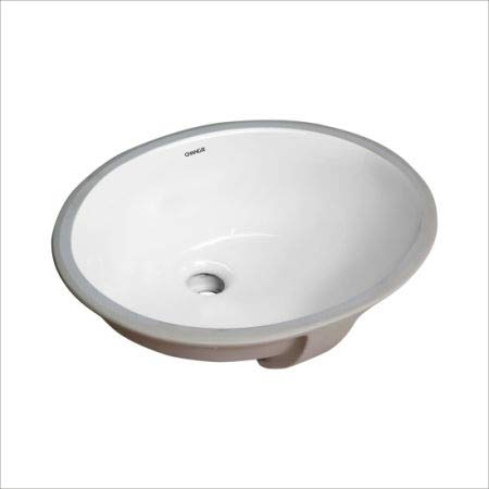 Changie 1602W Oval Undercounter Bathroom Ceramic Sink 16 X 13 Inches 1 Piece//Carton White