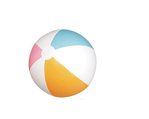 One Dozen Traditional Six Panel 20'' BEACH BALL ~ 12 Inflatable Beach Balls Approx 20'' ~ Fun for Pool Beach Party Birthday Favors Wedding Carnivals ~ Outdoor Summer Fun ~ New by RN