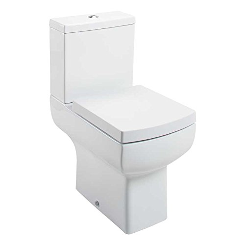 Cassellie Daisy Lou Ceramic Close Coupled Toilet Pan and Cistern With Soft-Close Seat