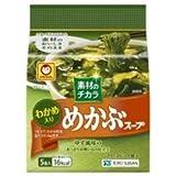 東洋水産 マルちゃん 素材のチカラ めかぶスープ (4.7g×5食)×6袋入×(2ケース)