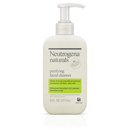 Neutrogena Naturals Purifying Daily Facial Cleanser with Natural Salicylic Acid from Willowbark Bionutrients, Hypoallergenic, Non-Comedogenic & Sulfate-, Paraben- & Phthalate-Free, 6 fl. oz ()