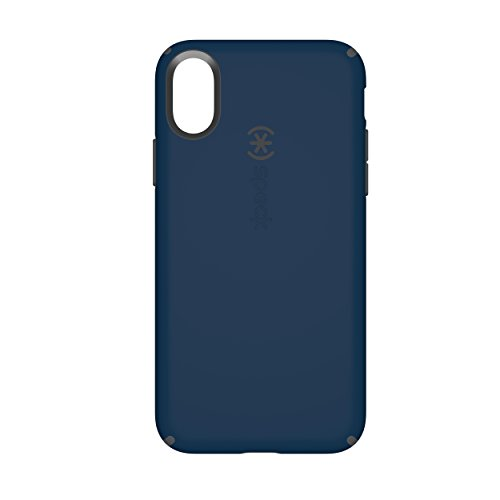 Speck Products CandyShell Cell Phone Case for iPhone X - Deep Sea Blue/Slate Grey