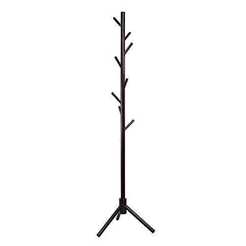maxgoods Coat Rack Free Standing Modern DIY Heavy Duty Entryway Wooden Clothing Rack Hat Corner Hall Umbrella Stand Tree for Bedroom Living Room Office,Easy Assamble (Size 14) by maxgoods (Image #8)