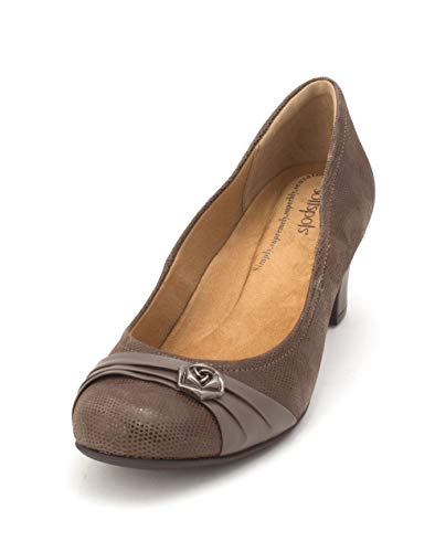 softspots Womens Tabia Suede Round Toe Classic Pumps, Tan, Size 9.5