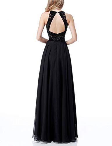 Bridal Evening Neck Round Lace Backless Chiffon Prom Lilac Women's Bess Dress Long BUqncw77d
