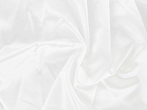 Dalston New Max 80% OFF color Mill Fabrics Satin Acetate White 5m