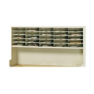 Mayline SR6033RPG Mailroom system, 1 tier sorter w/riser, 25 pockets, 60w x 13-1/4d x 33-1/4h by Mayline