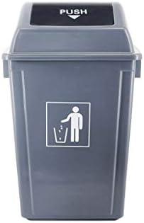 滑らかな表面 キッチン用ゴミ箱より厚い缶、パークホテル屋外のゴミ箱耐久性のあるロールカバータイプゴミ箱衛生ごみ箱のごみ缶 リサイクル可能なデザイン (Size : 60L)