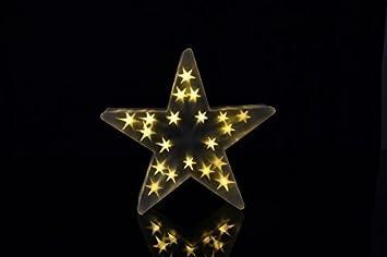 Weihnachtsdeko Led Stern.Xl Weihnachtsdeko Beleuchtet Warmweiß Innen Stern Led Leuchte Mit