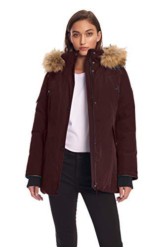 Alpine North Womens Vegan Down Parka Winter Jacket, Grape, L ()