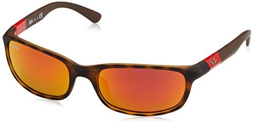 Ray-Ban Boy's Mirrored RJ9056S-70266Q-50 Brown Rectangle - Ban Boys Sunglasses Ray