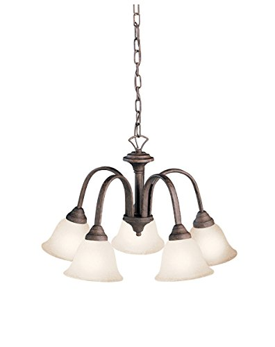 Chandeliers 5 Light with Tannery Bronze Finish Medium Base Bulb 23 inch 500 Watts