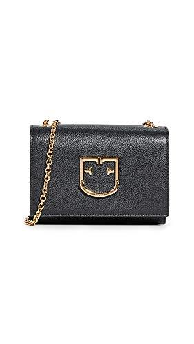 - Furla Women's Viva Mini Pouchette Bag, Onyx, Black, One Size