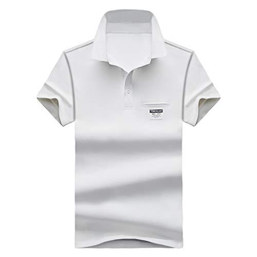 Stoota Summer Men's New Golf Shirt,Fashion Polo Shirt,Jersey Tee Short Sleeves White -