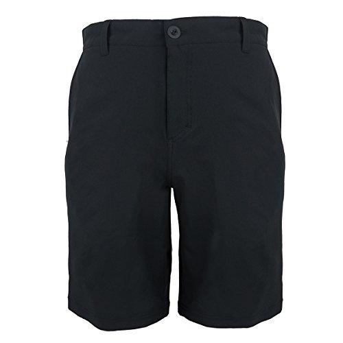 Evrimas Men's Amphibian Hybrid Shorts Chino Golf Athletic Casual Quick Dry 21'' Solid Walk Boardshort Khaki Black (Black, (Dry Golf Shorts)