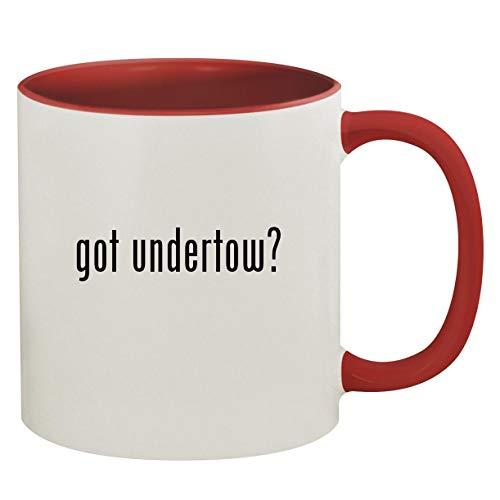 got undertow? - 11oz Ceramic Colored Inside & Handle Coffee Mug, Red