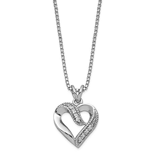 Used, 925 Sterling Silver Cubic Zirconia Cz Heart Pendant for sale  Delivered anywhere in Canada