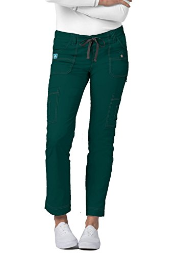 - Adar Pop-Stretch Jr. Fit Low-Rise 11-Pocket Slim Cargo Pants - 3108 - Hunter Green - XL